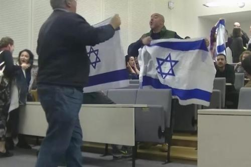Pro-Israeli 'mob' with ties to EDL causes mayhem at Balfour event