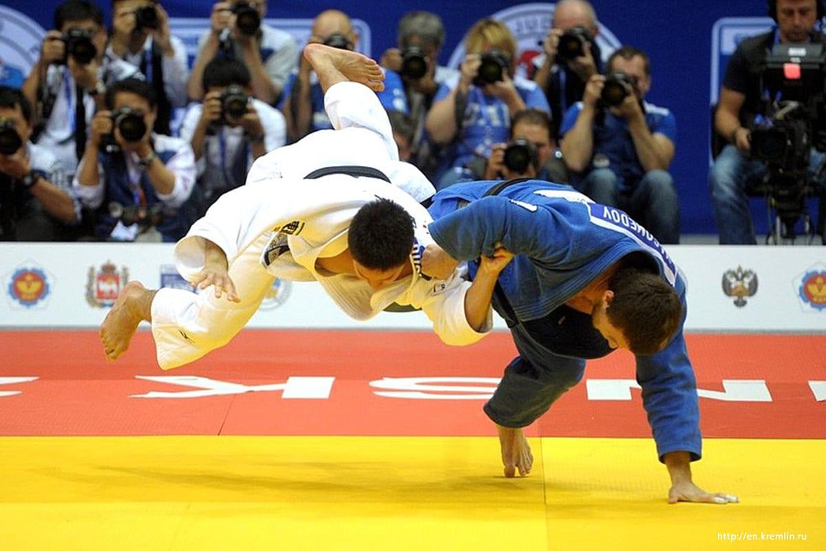 Participants take part in a World Judo Competition [En.kremlin.ru]