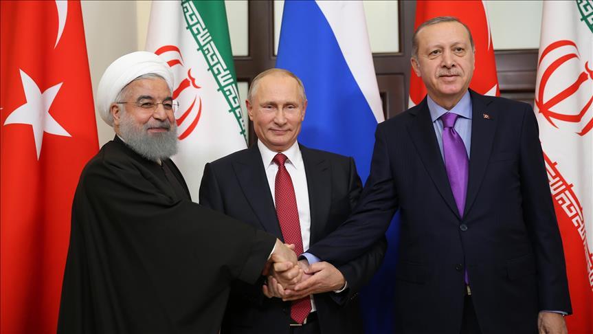 Kết quả hình ảnh cho picture of Putin and Rouhani and Erdogan