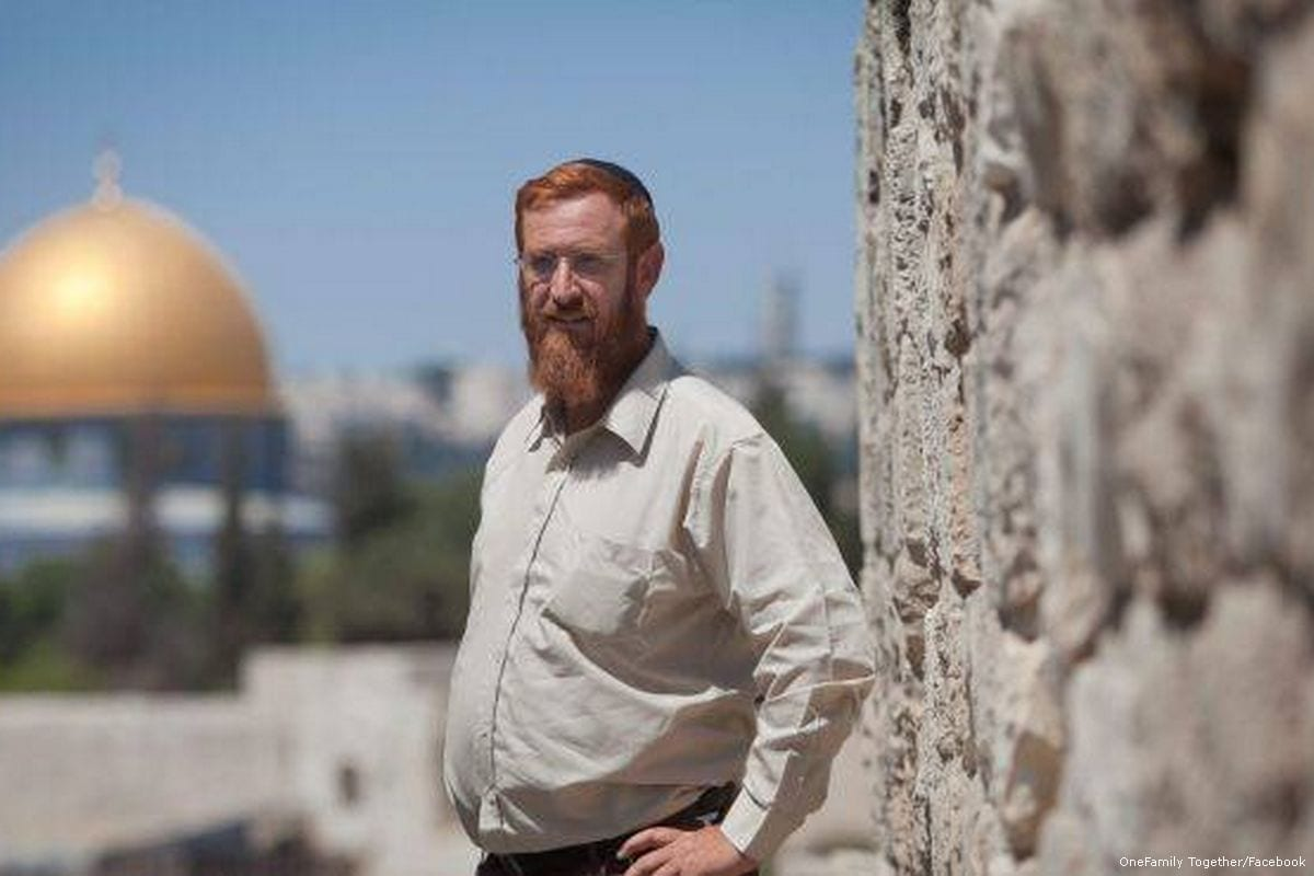 Extremist Israeli Jewish Rabbi Yehuda Glick [OneFamily Together/Facebook]