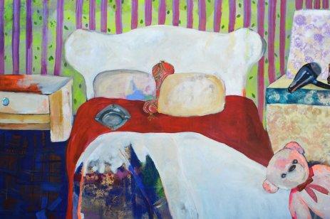 "Art by Rana Samara of her series ""Intimate Space"" seen displayed at Ramallah's Zawyeh Gallery at Art Dubai 2017"