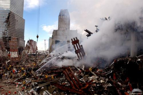 The aftermath of 9/11 in New York City, US [slagheap/Flickr]