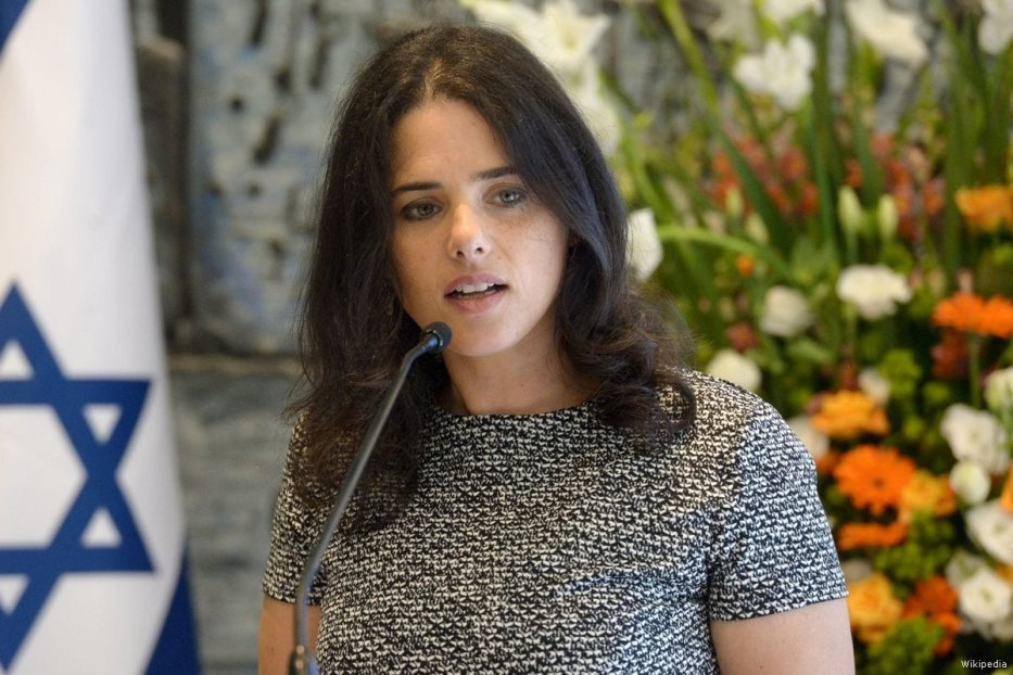 Ayelet Shaked, Israel's Justice Minister of the far-right Jewish Home party [Wikipedia]