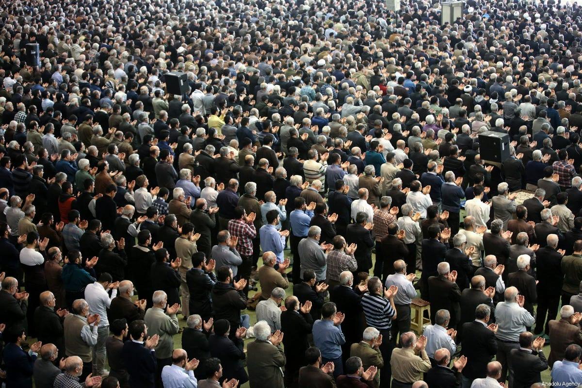 Senior Iranian cleric Ahmad Khatami leads Friday prayer in Tehran, Iran on January 5, 2018 [Fatemeh Bahrami / Anadolu Agency]