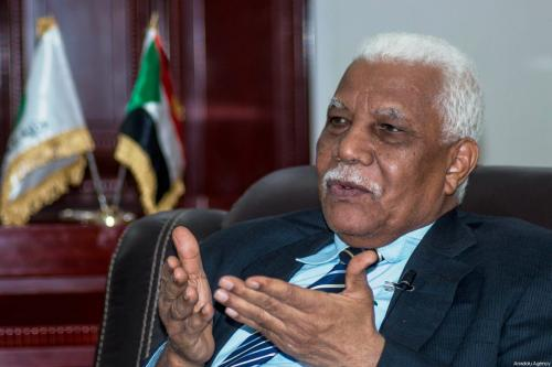 Ahmed Bilal Osman, Deputy Prime Minister of Sudan seen during an interview on January 8, 2018 [Mahmuod Hjaj / Anadolu Agency]