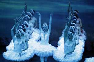 "ANTALYA, TURKEY- Antalya State Opera and Ballet perform on stage Tchaikovsky's renowned ""Swan Lake Ballet"""