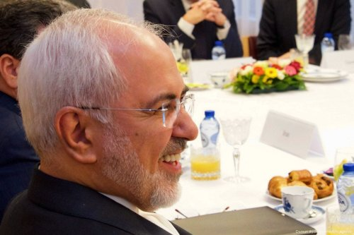 Iranian Foreign Minister Mohammad Javad Zarif on 11 January 2018 [Council of the European Union/Anadolu Agency]