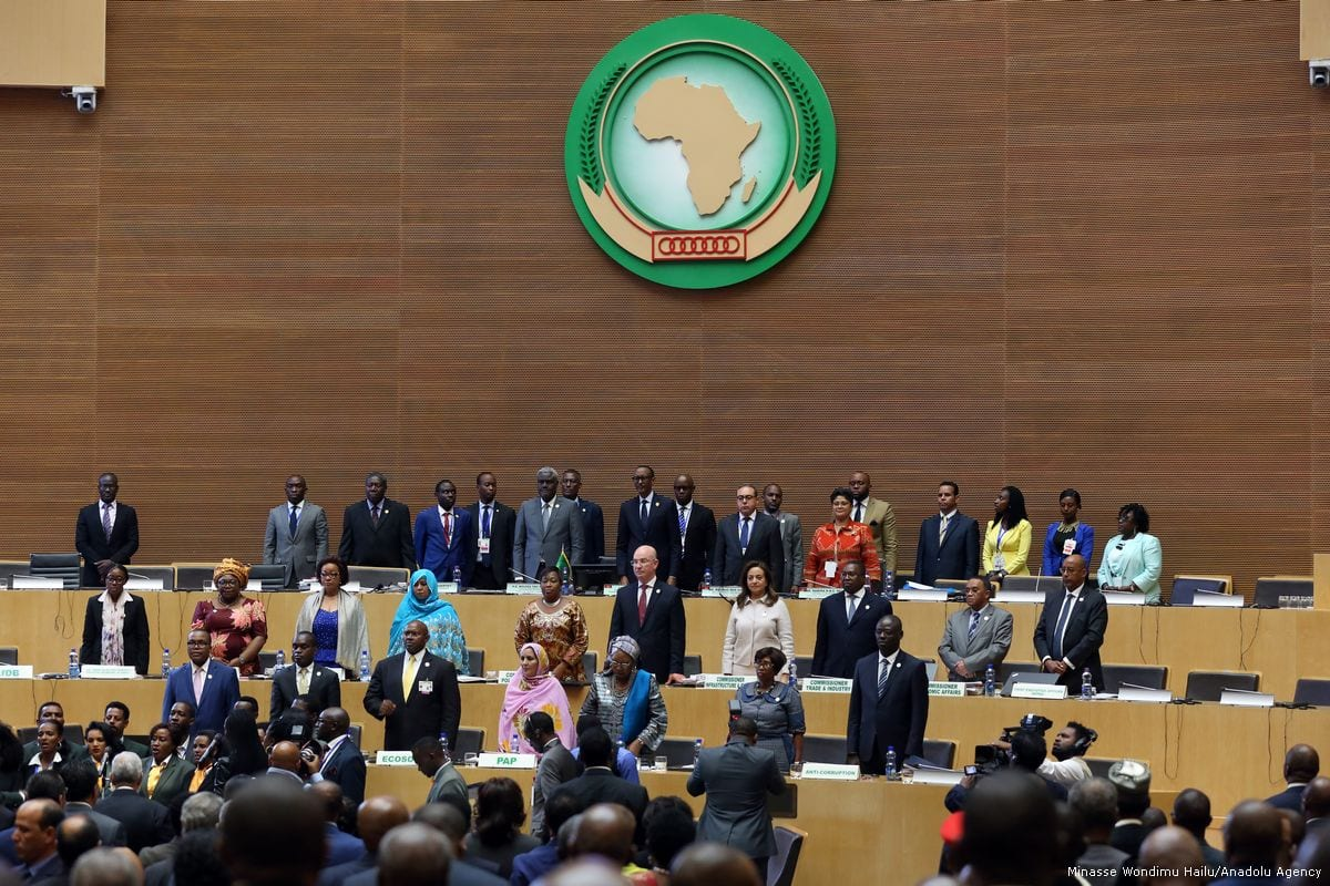 Participants are seen at the 30th African Union (AU) Heads of State and Government Summit in Addis Ababa, Ethiopia on 28 January 2018 [Minasse Wondimu Hailu/Anadolu Agency]