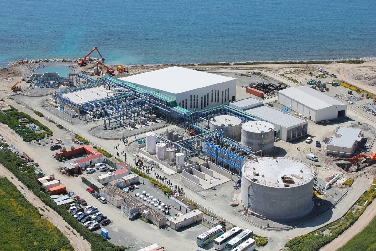 File photo of a desalination plant