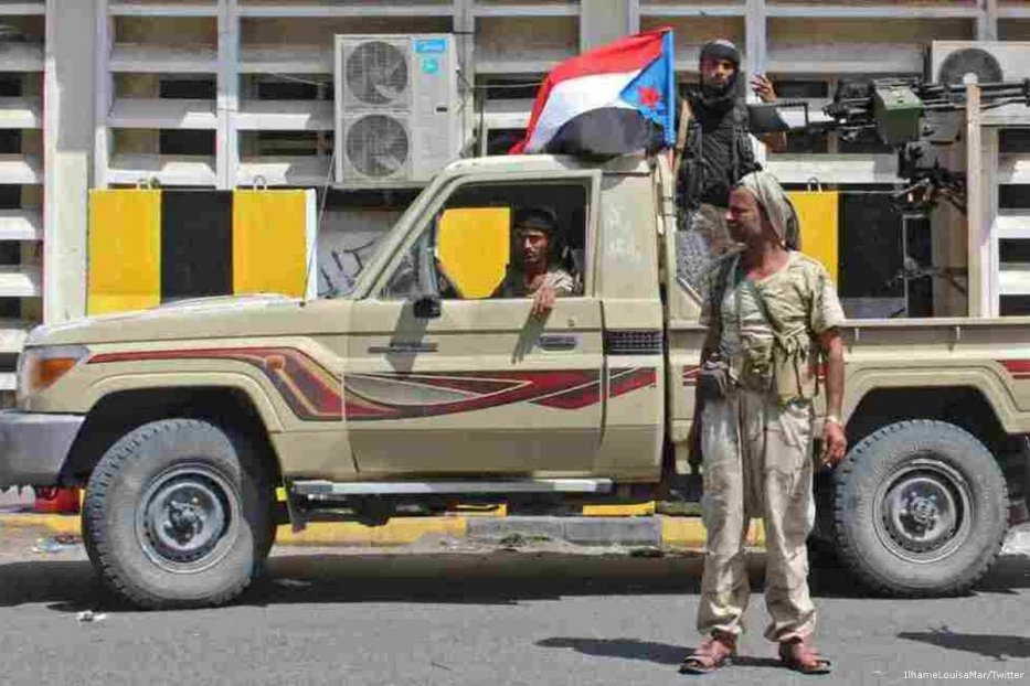 UAE-backedSouthern Transitional Council(STC) forces [IlhameLouisaMar/Twitter]