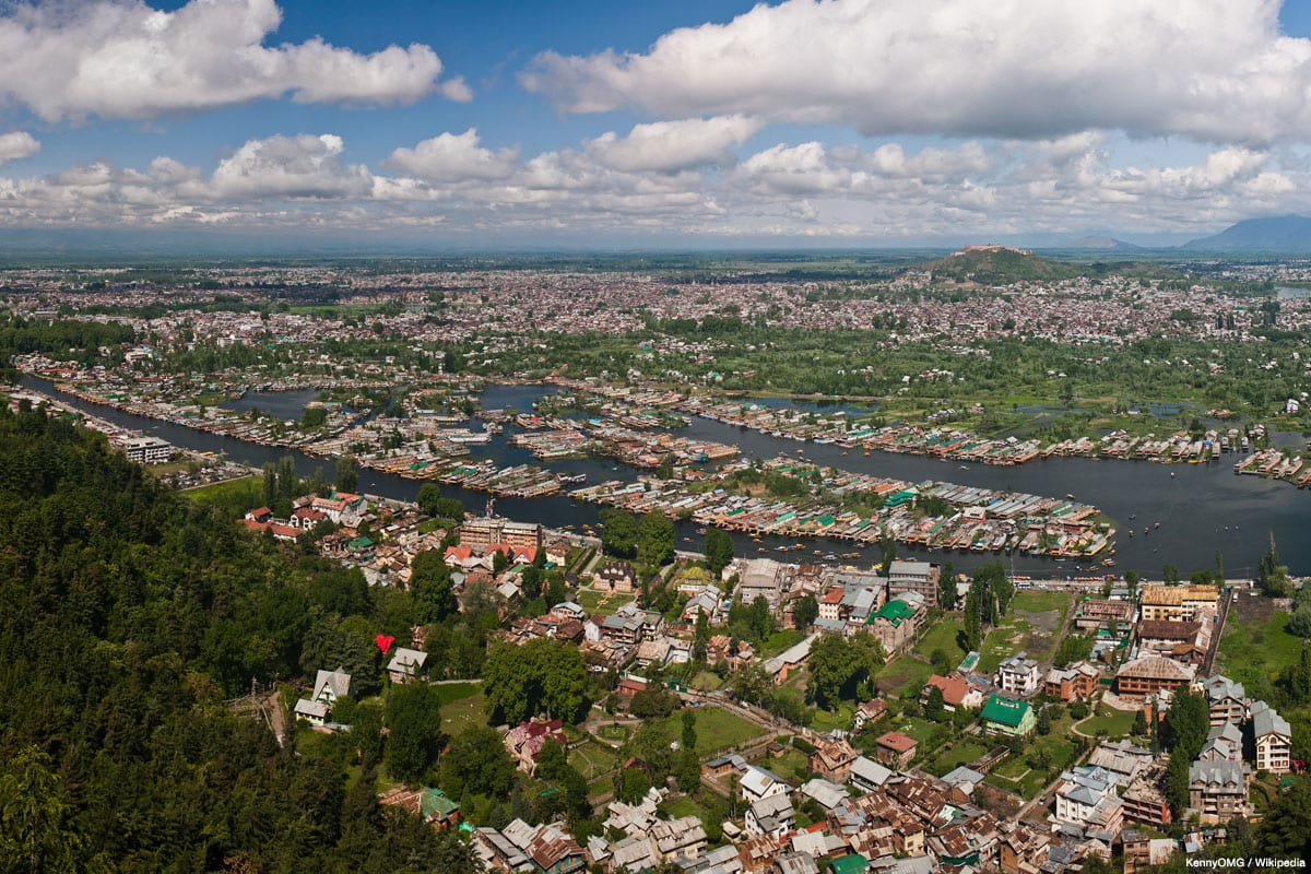 View of Dal Lake and the city of Srinagar, Kashmir's largest city on the Indian side, from the Shankaracharya Hill [KennyOMG / Wikipedia]