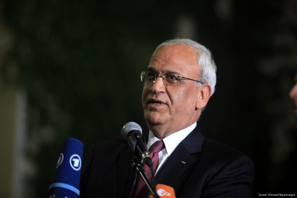 Chief PLO negotiator Saeb Erekat [Issam Rimawi/Apaimages]