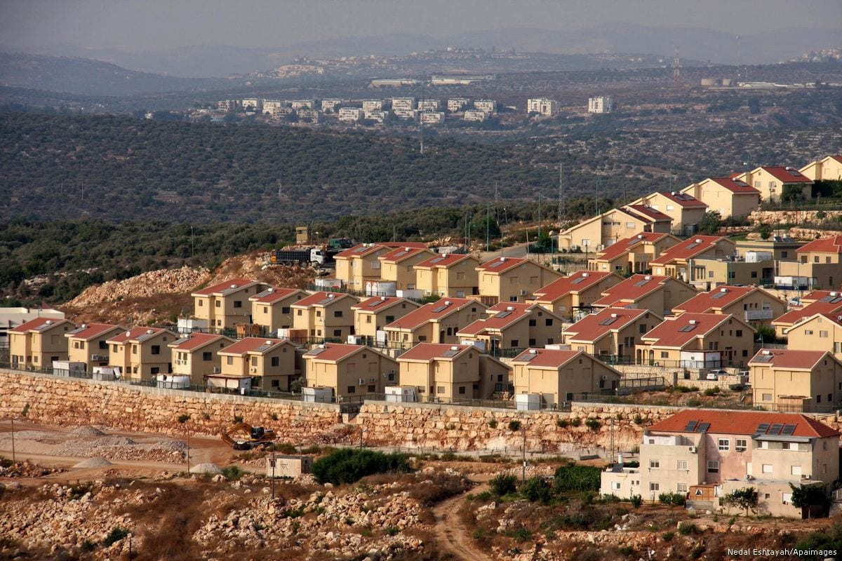 A general view of an Israeli settlement in Nablus, West Bank [Wagdi Eshtayah/Apaimages]