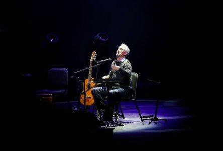 Iranian singer Mohsen Namjoo gives concert at Zorlu Performing Art Center in Istanbul, Turkey on 1 February, 2018 [Şebnem Coşkun/Anadolu Agency]