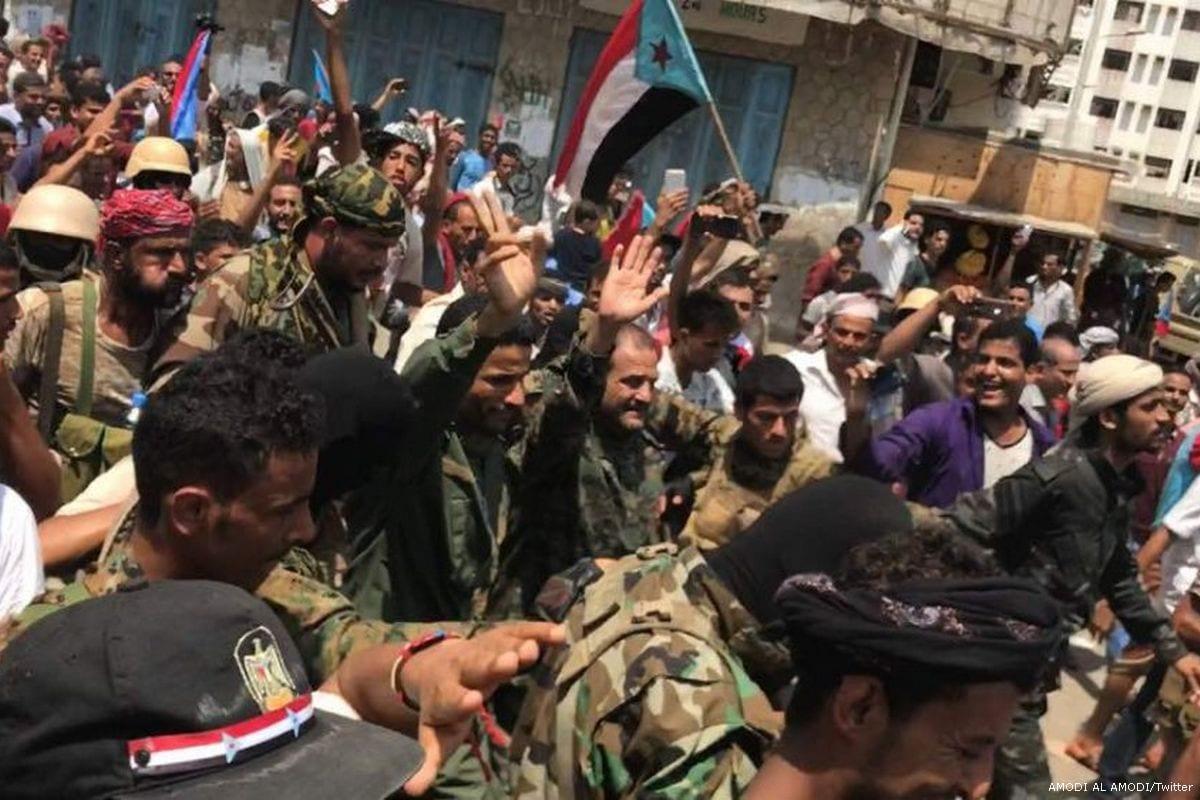 UAE-backedSouthern Transitional Council(STC) forces [AMODI AL AMODI/Twitter]