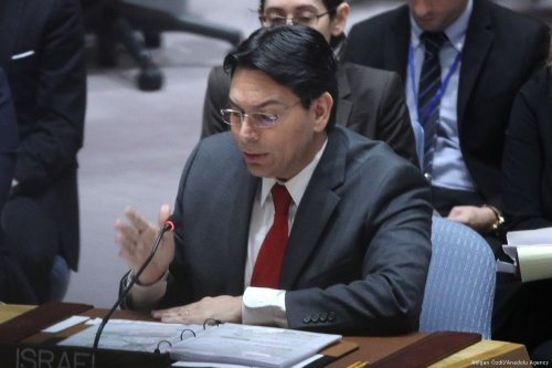 Israeli Ambassador to the UN, Danny Danon at the UN headquarters in New York, US on 20 February 2018 [Atılgan Özdil/Anadolu Agency]