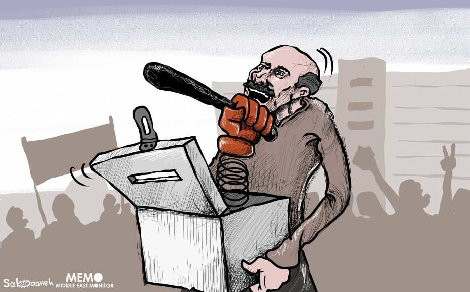 Remembering the Egyptian Revolution - Cartoon [Sabaaneh/MiddleEastMonitor