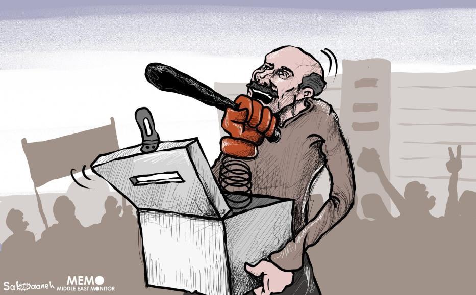 Remembering the Egyptian Revolution - Cartoon [Sabaaneh/MiddleEastMonitor
