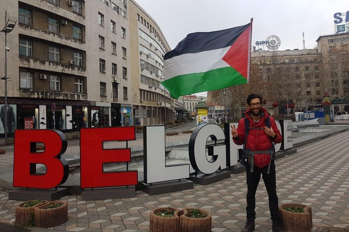 Swedish activist Benjamin Ladraa arrives in Belgrade, on February 4, 2018 [Facebook / Benjamin Ladraa]