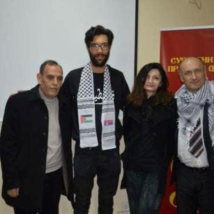 Swedish activist Benjamin Ladraa seen at a lecture at the Faculty of Law in Kragujevac, Belgrade on February 15, 2018 [Nesecam Se / Lina El Zik Ignjatovic / Facebook]