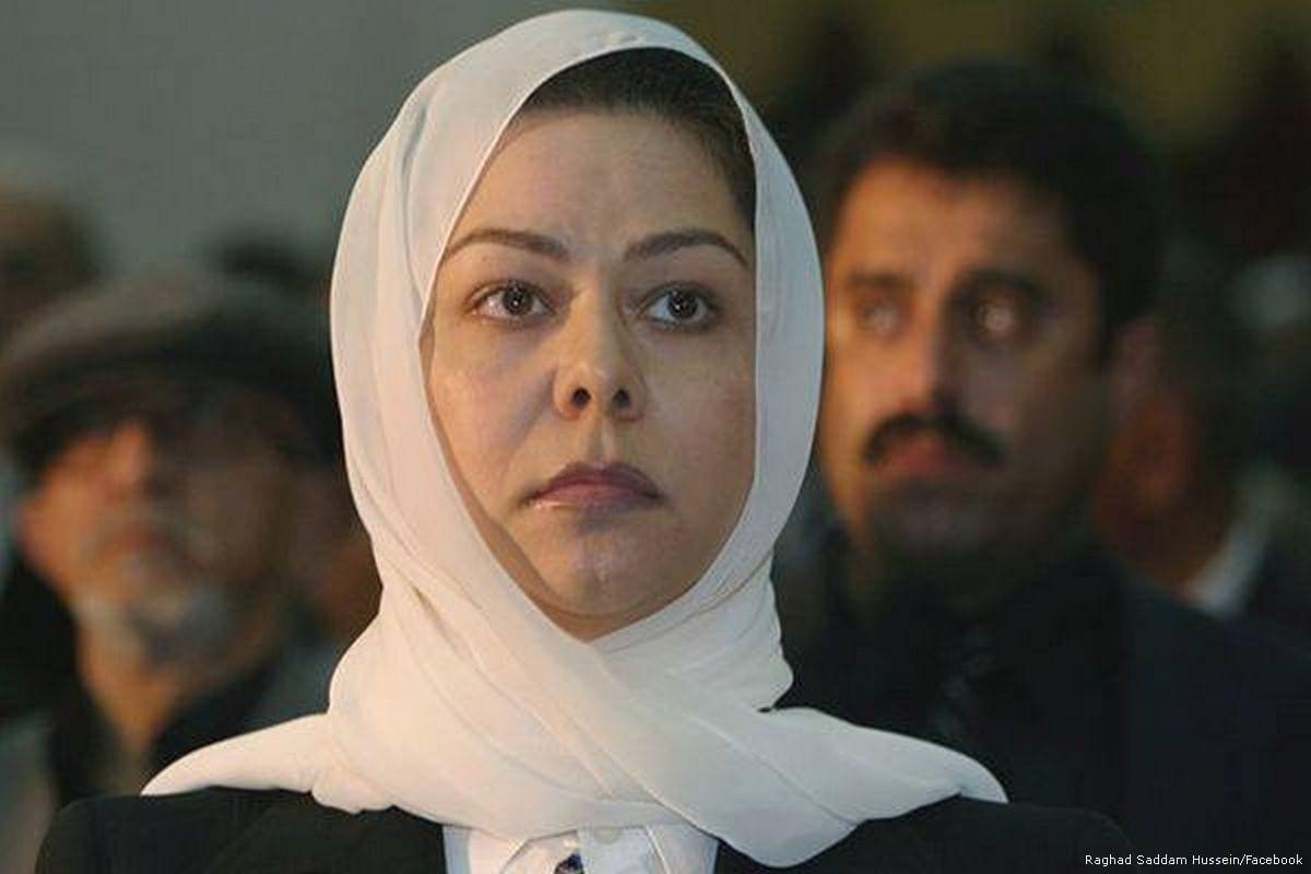 Raghad Saddam Hussein, the eldest daughter of former President of Iraq, Saddam Hussein [Raghad Saddam Hussein/Facebook]