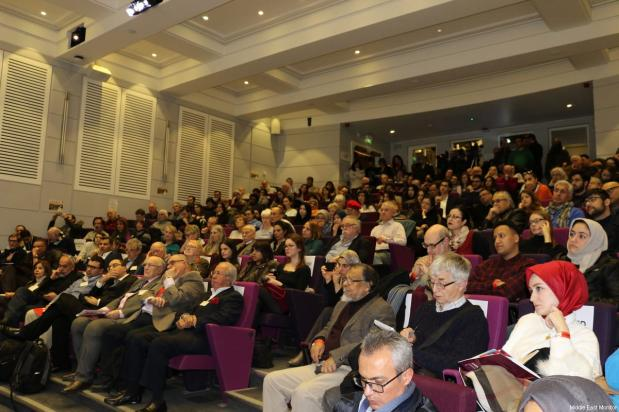 Audience seen at Middle East Monitor's 'Jerusalem: Legalising the Occupation' conference in London, UK on 3 March, 2018 [Jehan Alfarra/Middle East Monitor]