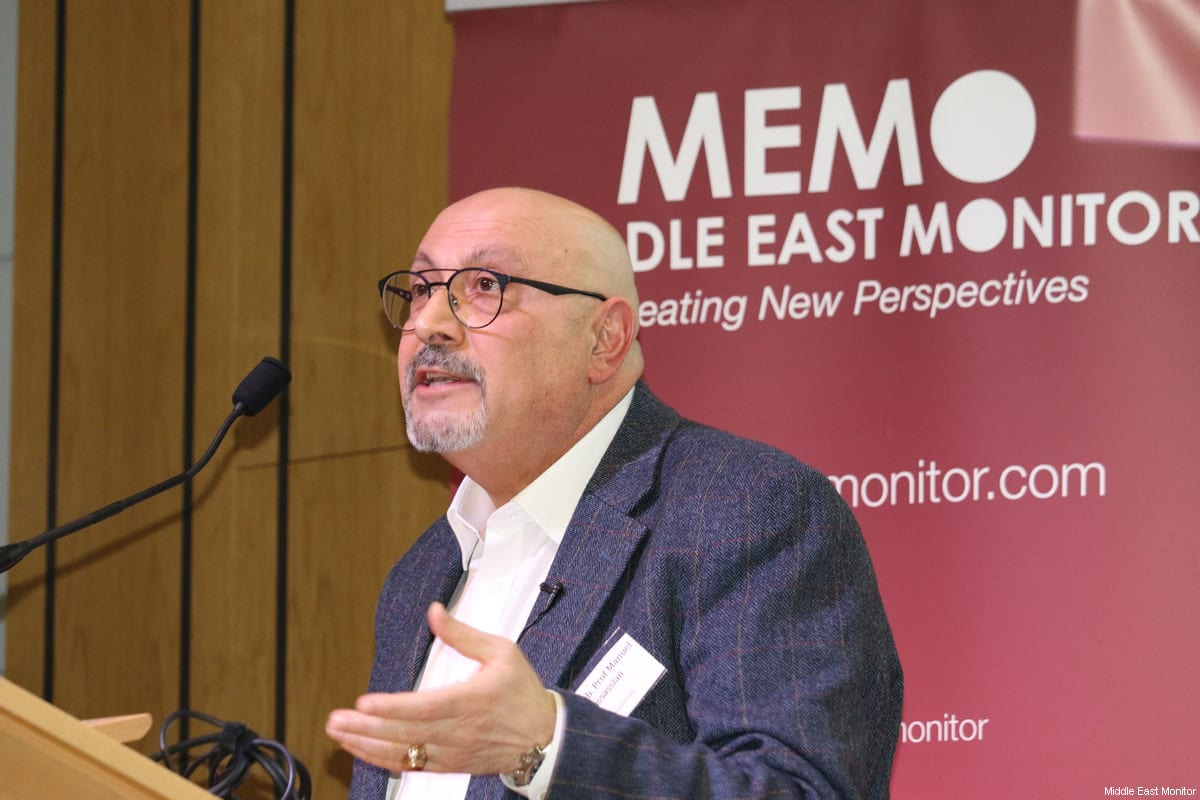 XYZ seProf Manuel Hassassian seen at Middle East Monitor's 'Jerusalem: Legalising the Occupation' conference in London, UK on 3 March, 2018 [Jehan Alfarra/Middle East Monitor]en at Middle East Monitor's 'Jerusalem: Legalising the Occupation' conference in London, UK on March 3, 2018 [Jehan Alfarra / Middle East Monitor]