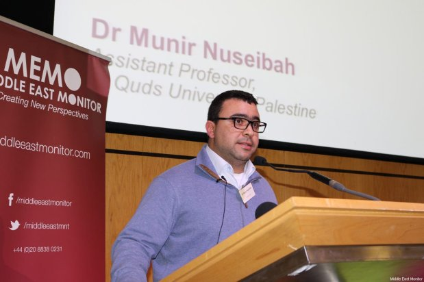 Dr Munir Nuseibah seen at Middle East Monitor's 'Jerusalem: Legalising the Occupation' conference in London, UK on 3 March, 2018 [Jehan Alfarra/Middle East Monitor]