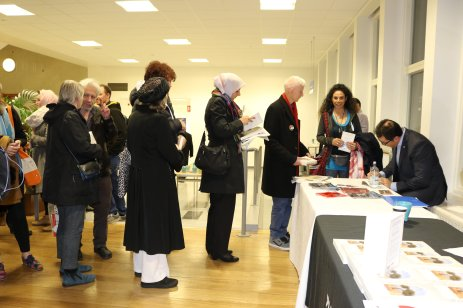 People seen at Book Launch of Ramzy's Baroud latest book - The Last Earth: A Palestinian Story on 27 March, 2018 [Jehan Alfarra/Middle East Monitor]