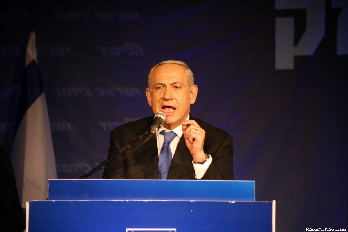 Israeli Prime Minister Benjamin Netanyahu [Mahfouz Abu Turk/Apaimages]
