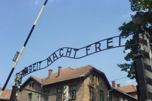 Auschwitz memorial in Oświęcim, Poland [Wikpedia]