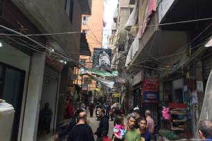 The streets among a Palestinian refugee camp in Beirut, Lebanon [Professor Kamel Hawwash]