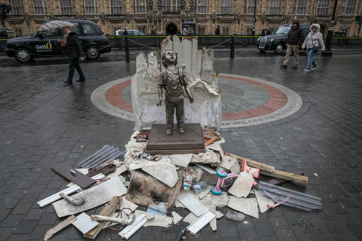 As the UK Government welcomes the Saudi Crown Prince's first official visit to London, Save the Children has unveiled a life-size statue of a child outside Parliament. The bronze-like statue is a reminder of the dangers that Yemeni children face every day and the risks of British-made bombs fuelling the violence [Save The Children]