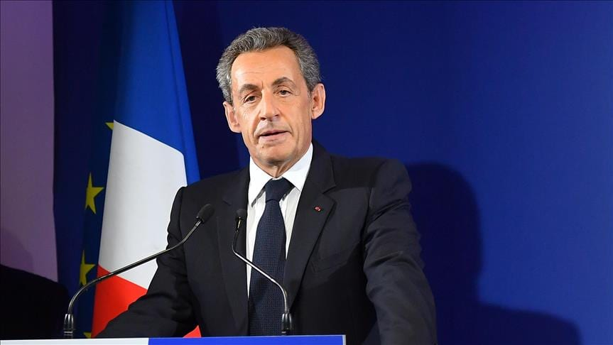 Former French President and leader of the Les Republicains Party, Nicolas Sarkozy, 20 March 2018
