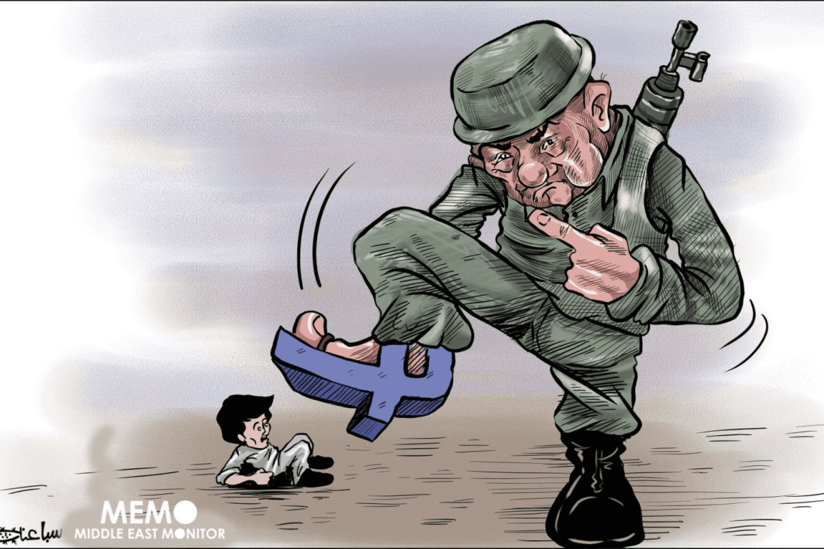 #FBFightsPalestine - Cartoon [Sabaaneh/MiddleEastMonitor]