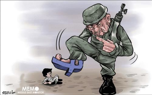 #FBFightsPalestine - Cartoon [Sabaaneh/MiddleEastMonitor]