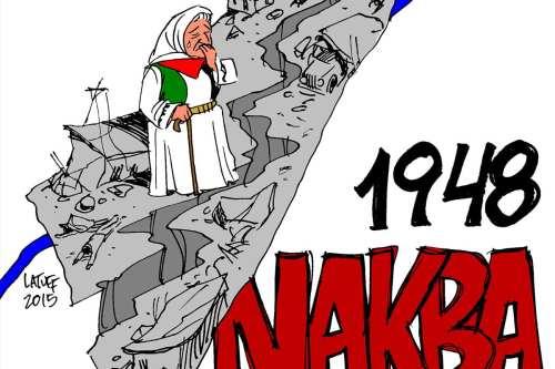Nakba Day 1948 - Cartoon [Latuff/MiddleEastMonitor]