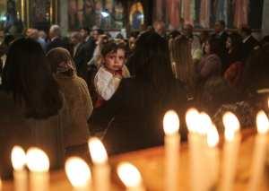 Orthodox Christians attend the Palm Sunday procession in Gaza City, Gaza on 1 April, 2018 [Mustafa Hassona/Anadolu Agency]