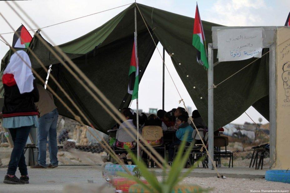 Israeli forces demolish a primary school in West Bank