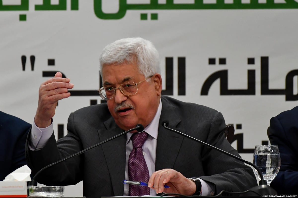 Palestinian President Mahmoud Abbas in Ramallah, West Bank on 11 April 2018 [Issam Rimawi/Anadolu Agency]