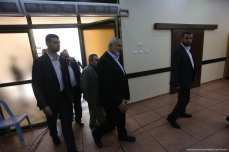 Head of Hamas' political bureau, Ismail Haniyeh can be seen before the Palestine National Council meeting on 30 April 2018 [Mohammed Asad/Middle East Monitor]