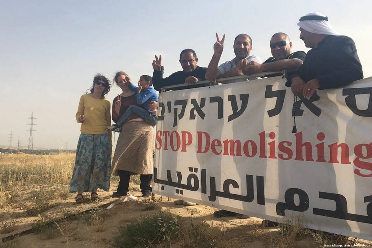 Palestinians in Israel come out in support of Al-Araqeeb
