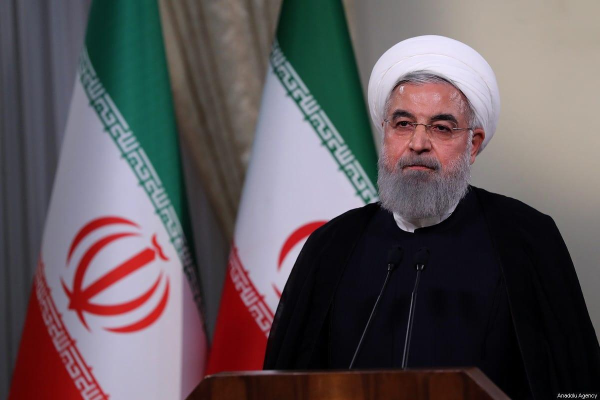 Iranian President Hassan Rouhani in Tehran, Iran on 8 May 2018 [Iranian Presidency/Anadolu Agency]