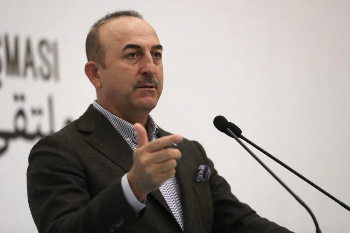 Turkish Foreign Affairs Minister Mevlut Cavusoglu makes a speech during the Istanbul Forum for Arab Journalists in Istanbul, Turkey on May 12, 2018 [Fatih Aktaş / Anadolu Agency]