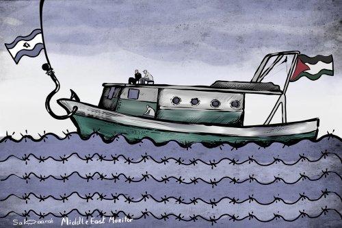 Mavi Marmara Cartoon [Sabaaneh/MiddleEastMonitor]