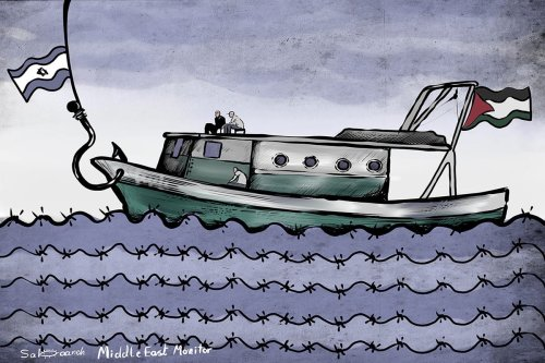 Mavi Marmara Cartoon [Sabaaneh/MiddleEastMonitor]