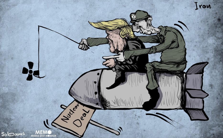 Nuclear Deal: Israel is behind it - Cartoon [Sabaaneh/MiddleEastMonitor]