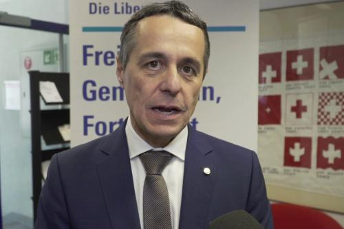 Ignazio Cassis, the Foreign Minister of Switzerland [screengrab / Youtube]