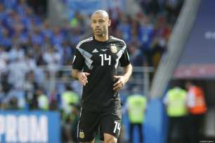 Javier Mascherano of Argentina is seen during the 2018 FIFA World Cup Russia Group D match between Argentina and Iceland at Spartak Stadium on June 16, 2018 in Moscow, Russia. ( Sefa Karacan - Anadolu Agency )