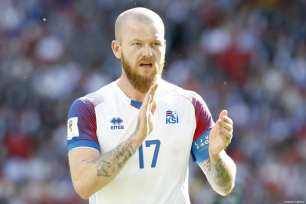 Aron Gunnarsson of Iceland is seen during the 2018 FIFA World Cup Russia Group D match between Argentina and Iceland at Spartak Stadium on June 16, 2018 in Moscow, Russia. ( Sefa Karacan - Anadolu Agency )